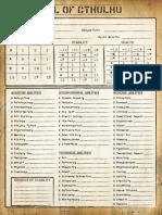 [ToC] Character Sheet Alternate