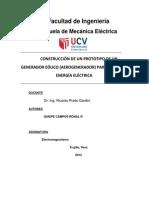 CONSTRUCCIÓN DE UN PROTOTIPO DE UN GENERADOR EÓLICO (AEROGENERADOR) PARA PRODUCIR ENERGÍA ELÉCTRICA