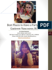 Best Places to Have a Party in Gastown Vancouver British Columbia