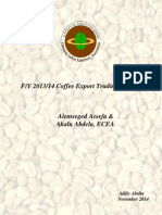 Ethiopia's Coffee Export Performance Report - Fiscal Year 2013/14  by Ethiopian Coffee Exporters' Association (EECA)