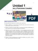 Ecuaciones Lineales y Funciones Lineales