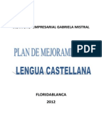 Plan de Mejoramiento Lenguaje 2012
