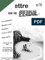 La Lettre de la FFJdR n.6 (nouvelle formule) - juillet 2001
