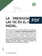La Presencia de Las Tic en El Nivel Inicial(1)