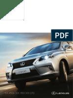 Lexus rx series brochure