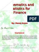 Mathematics and Statistics for Finance