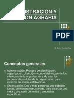Administración y Gestión Agraria (AGROBANCO I)