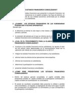 Preguntas de Consolidacion de Estados Financieros Unidad 2