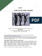 La Prima Volta Che Ho Visto i Fascisti