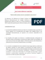 Declaracion de Cancun Nov 2014