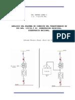 Análisis esquema de conexión transformador de potencia