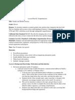 lesson plan 2 structure