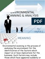 Environmental Scanning & Analysis