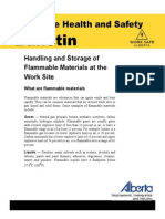 Handling and Storage of Flammable Materials