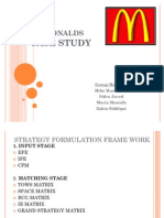 Strategic Management Mcdonalds
