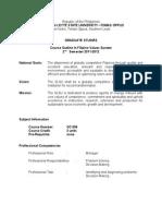 Syllabus in Filipino Value System (2011)