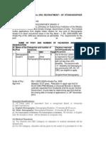 Wildlife Institute of India (WII) Recruitment Of Stenographer Grade-II