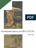 Photographs in the Metropolitan the Metropolitan Museum of Art Bulletin v 27 No 7 March 1969