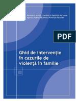Ghide de interventie in cazurile de violenta in familie