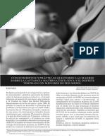 Conocimientos y Prácticas Que Poseen Las Madres Sobre La Lactancia Materna Exclusiva y El Destete Temprano en Menores de Seis Meses