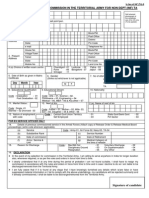 Application Form Indian Army Territorial Officer Posts