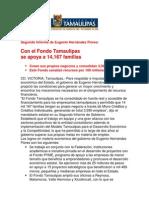 com0980 291106 Con el Fondo Tamaulipas  se apoya a 14,167 familias
