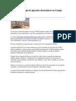 Planta de Reciclaje de Aparatos Electrónicos en Campo Real