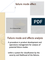 Design failure mode effect  analysis   FMEA