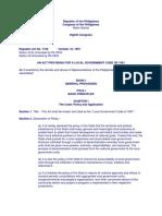 RA 7160 Devolution of Health Services