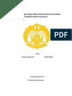 Fiskal_Auliya Zulfatillah_1106012533_Analisa Pelarangan Ekspor Bahan Mentah Minerba Terhadap Kebijakan Fiskal Di Indonesia