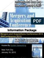 Mergers and Acquisitions Conference 2015 - Information Package