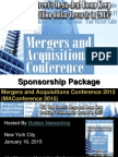 Mergers and Acquisitions Conference 2015 - Sponsorship Package