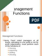 Management Fucntions