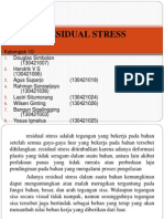 Persentasi Tegangan Sisa Residual Stress Presentasi