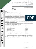 Contoh Surat Lamaran & Cv Pt Pertamina Ep