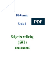 Cummings Workshop - Subjective Wellbeing (SWB) Measurement
