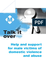 Men's Advice Line Booklet for Male Victims