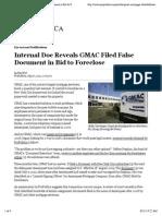 Internal Doc Reveals GMAC Filed False Document in Bid to Foreclose - ProPublica