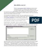Gestionar Bibliografías BibTex Con LyX
