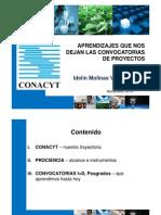 141113 UNIBE Aprendizajes Desde La Convocatorias CONACYT