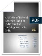 Analysis of Role of Reserve Bank of India and the Banking Sector in India