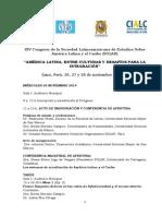 9c SOLAR XIV Congreso América Latina Culturas e Integración Programa 2014
