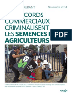 Grain 5082 Les Accords Commerciaux Criminalisent Les Semences de Ferme
