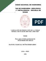 Tesis UNI 2006.- Ampliciacion de Produccion de La Unidad Minera Chungar