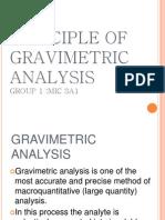 Principle of Gravimetric Analysis