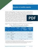 Allocation of Satellite Capacity