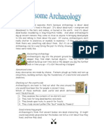 Archaeology is Dead Awesome - Pupil Sheet