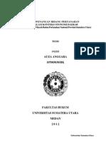 Kewenangan Bidang Pertanahan dalam Konteks Otonomi Daerah. Studi Kasus Kantor Wilayah BPN Provinsi Sumut