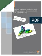 aplicación de fórmulas estadísticas en un problema práctico