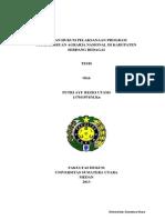 Kajian Hukum Pelaksanaan Program Pembaharuan Agraria Nasional di Kabupaten Serdang Bedagai